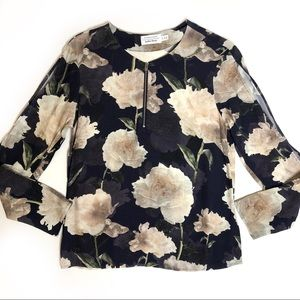 & Other Stories black floral blouse size 4
